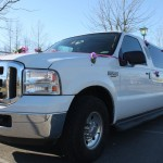Side View of President Limousine Decorated for wedding in Vancouver