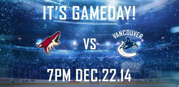 CANUCKS VS. COYOTES - Book Limo for this event
