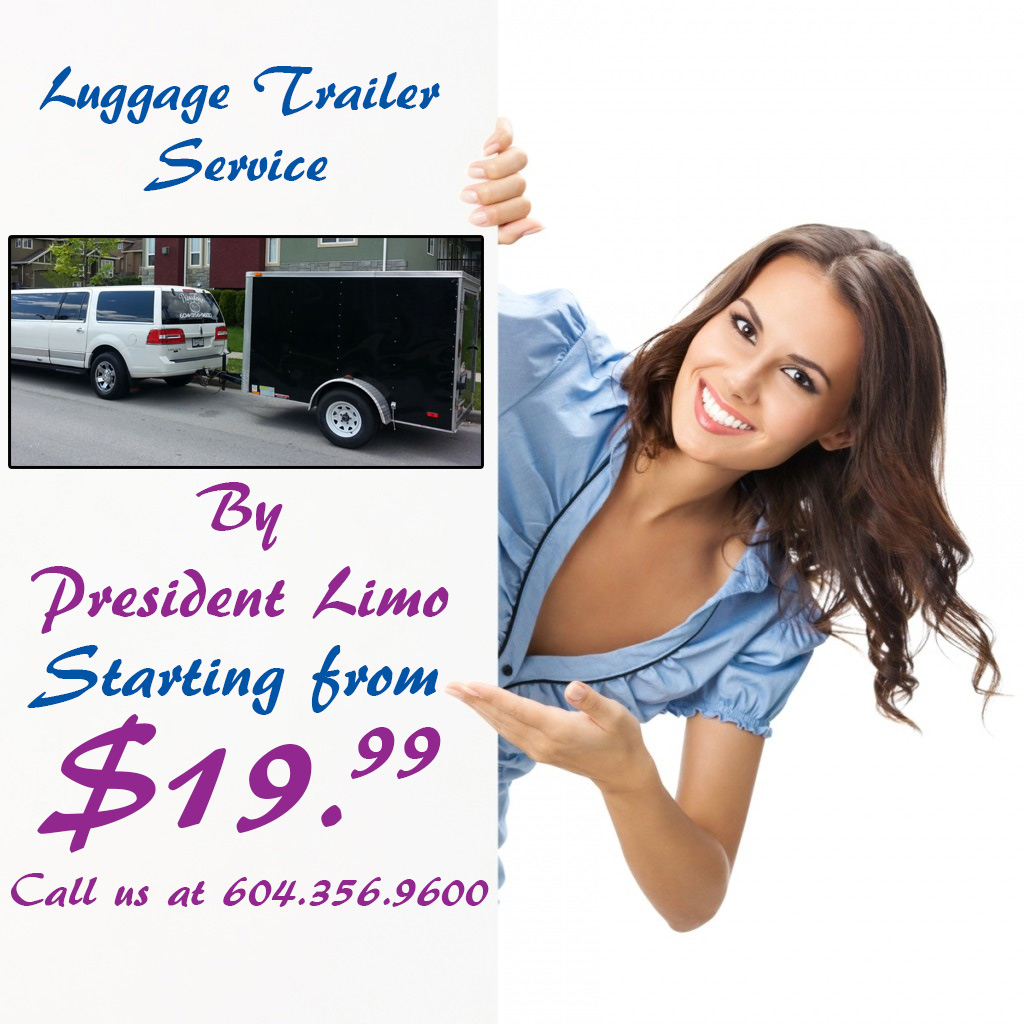 Luggage Trailer Service By President Limo